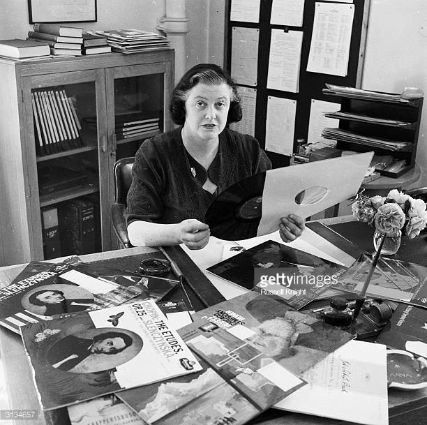 june-1958-head-of-the-bbc-record-library-anna-instone-prepares-for-an-picture-id3134657.jpeg